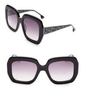 Rare Alice + Olivia Lexington Sunglasses, Black